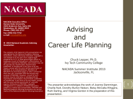 Integrating Academic Advising and Career Life