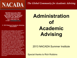 Issues in Adv Admin