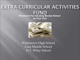 Extra-Curricular Activities Fund
