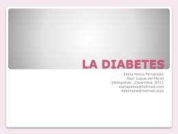 LA DIABETES - Colegio Oficial de Farmacéuticos de