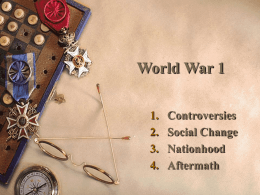 World War 1 - HRSBSTAFF Home Page