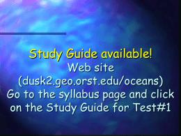 Lecture 7. Marine Sediments