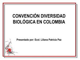 QUÉ ES LA CONVENCIÓN SOBRE DIVERSIDAD BIOLÓGICA