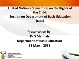 United Nation's Convention on the Rights of the