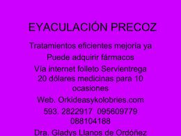 MANEJO DE LA EYACULACIÓN PRECOZ