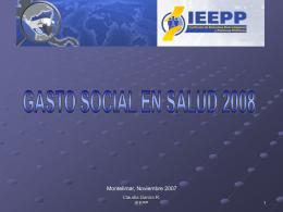 TENDENCIAS DEL GASTO EN EDUCACIÓN 2008