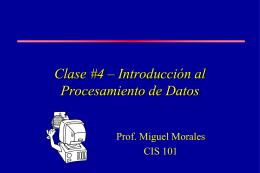 Clase #4 – Introducción al Procesamiento de Datos