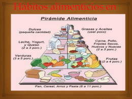 Hábitos alimenticios en adolecentes
