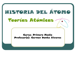 HISTORIA DEL ÁTOMO Teorías Atómicas
