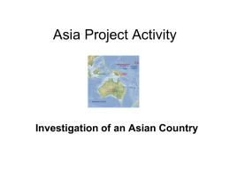 Asia Project Group Activity