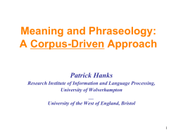 PowerPoint Presentation - When Corpus Meets Theory