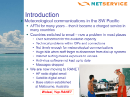 Pacific RANET Communications