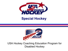 American Special Hockey Association -