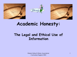 Academic Integrity:Student version