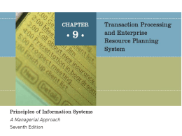 Trans Processing and ERP