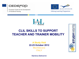CLIL Skills to support teacher and trainer