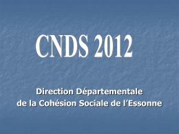 PRESENTATION CAMPAGNE CNDS 2010