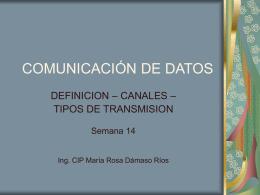 COMUNICACIÓN DE DATOS