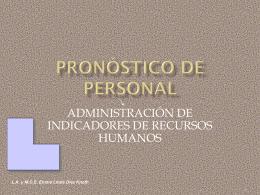 Pronóstico de Personal