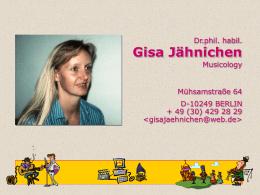 Univ.-Doz. Dr.phil. Gisa Jähnichen