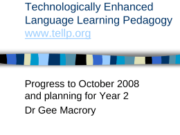 Technologically Enhanced Language Learning Project