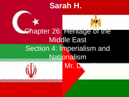 Chapter 26: Heritage of the Middle East Section 4