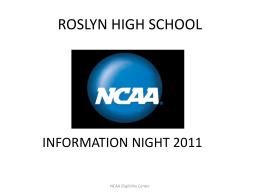 Student Athlete NCAA Eligibility