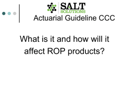 Actuarial Guideline CCC