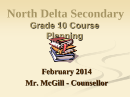 NEW GRADUATION PROGRAM - North Delta Secondary