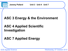 Unit 3: Energy & the Environment 3.2: Temperature