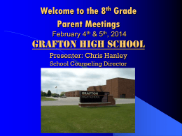 GRAFTON HIGH SCHOOL - Grafton School District