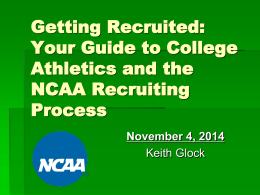 Getting Recruited: Your Guide to College Athletics