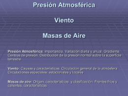 Presión Atmosférica Viento Masas de Aire