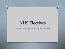 NHS Electives - Northview High School