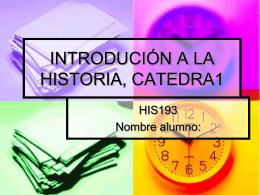 CONCEPTOS HISTÓRICOS HISTORIA CONTEMPORÁNEA