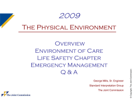 2009 PE Update - Welcome to the Healthcare