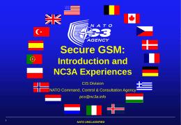 NC3A Secure GSM workshop