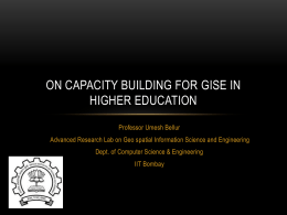 on capacity building for GISE in higher education
