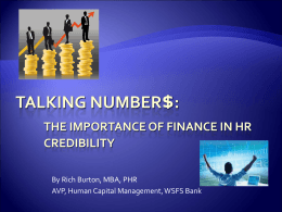 Talking Numbers: The Importance of Finance in HR