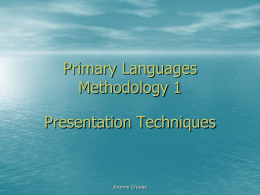 Primary Languages Methodology 1