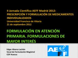 FORMULACIÓN DE MEDICAMENTOS INDIVIDUALIZADOS 20