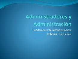 Administradores y Administración