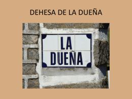DEHESA LA DUEÑA - DOCISA