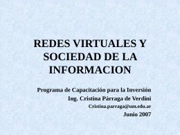 REDES VIRTUALES Y SOCIEDAD DE LA INFORMACION