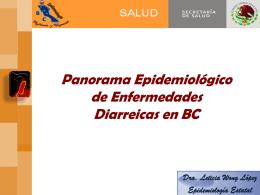 Panorama Epidemiológico de Enfermedades Diarreicas