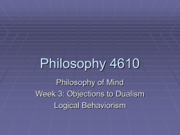 Philosophy 4610 - Villanova University