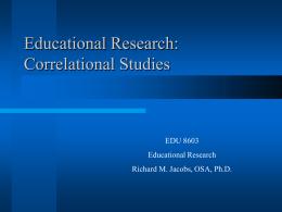 Correlational Studies - Villanova University