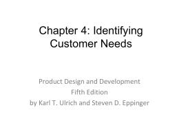 Identifying Customer Needs - Rose