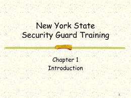 New York State Security Guard Training
