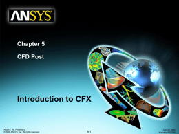 Chapter 8 CFD Post - شرکت پرداد پترودانش